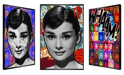 Ode To Hepburn by Patrick Rubinstein - Kinetic sized 19x28 inches. Available from Whitewall Galleries